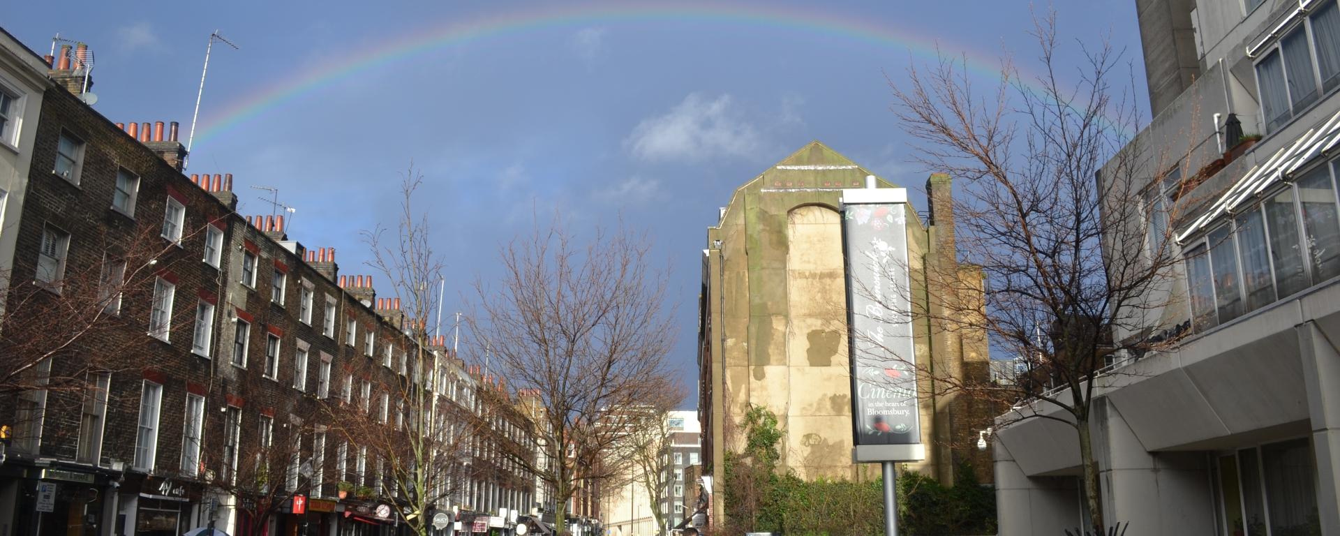 Rainbow over Marchmont Street, Bloomsbury