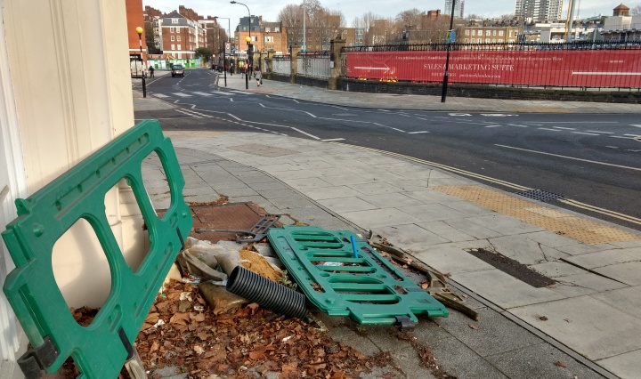 Abandoned Highways Equipment, Calthorpe Street, Bloomsbury, Camden