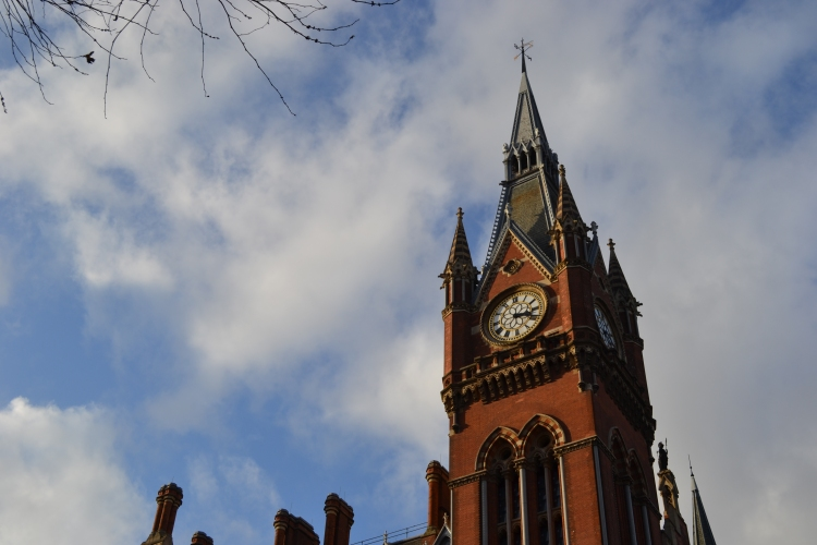 The Clock Tower of St Pancras Station, London
