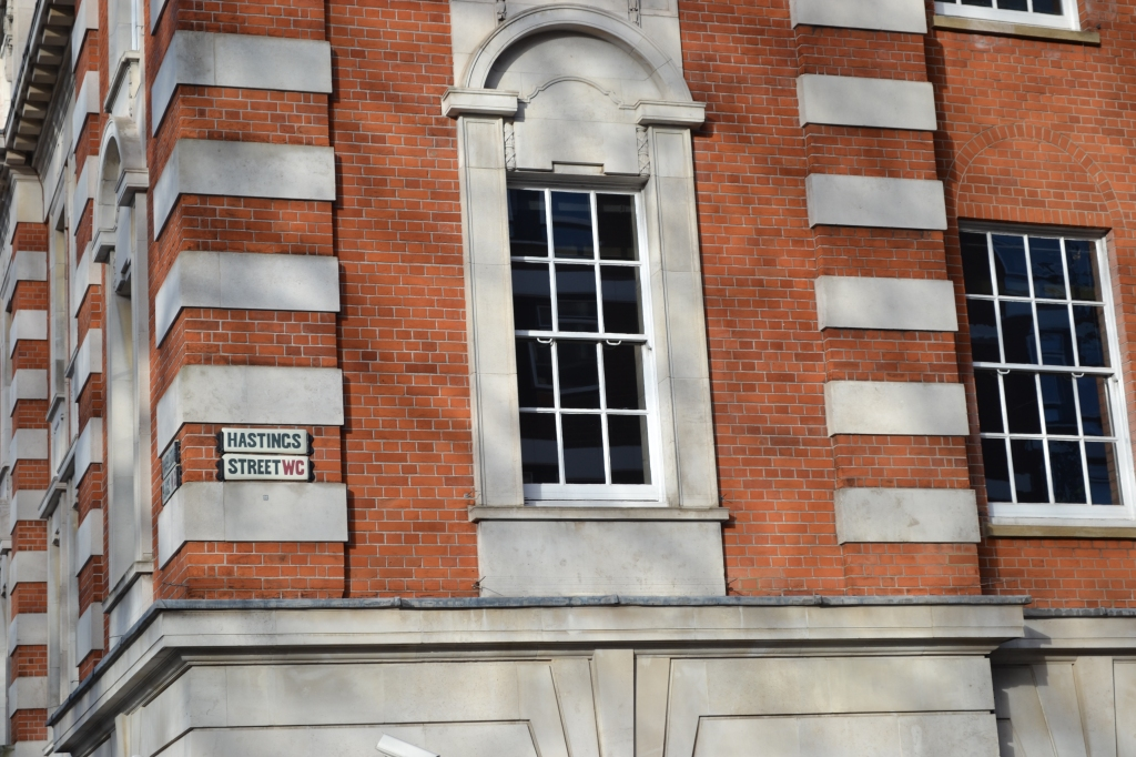 The striped corners of this building - technically called 'rusticated quoins' - are of architectural interest