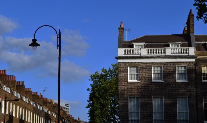A beautiful Georgian terrace at Bedford Square, Bloomsbury