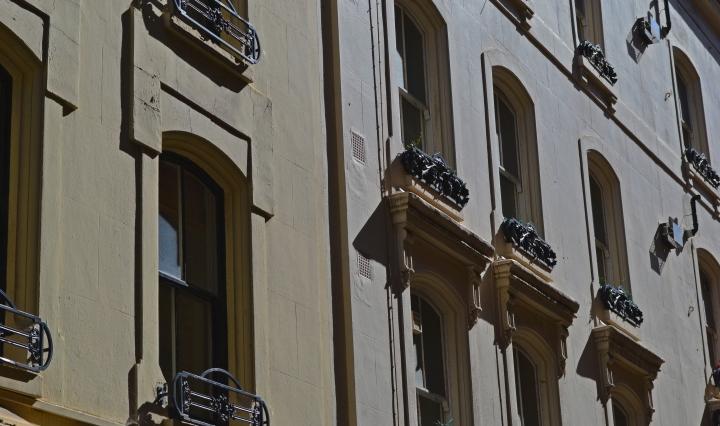 Beautiful Victorian terraces on Little Russell Street, Bloomsbury