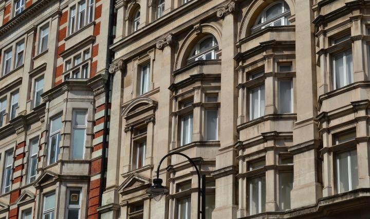 Beautiful Edwardian architecture on Southamton Row, Bloomsbury