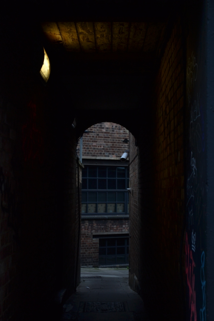 A dangerous and dark alley in King's Cross, St Chad's Place.