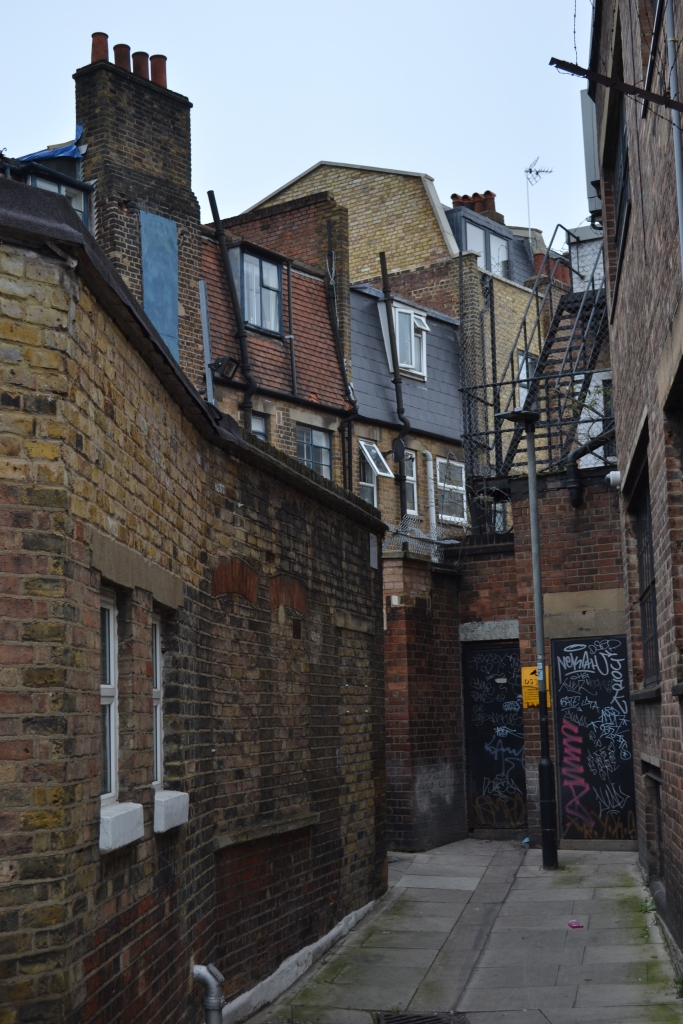 An old and dangerous looking alley, St Chad's Place, in King's Cross