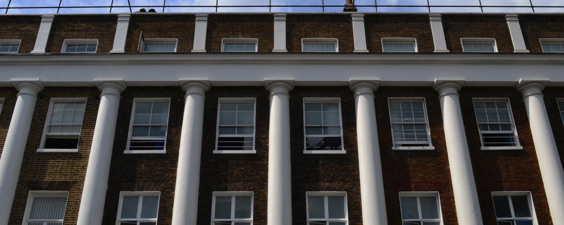 Georgian terraces on Guilford Street in Bloomsbury, London