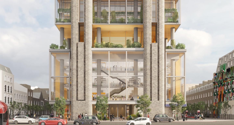 Belgrove House proposed development, from Euston Square