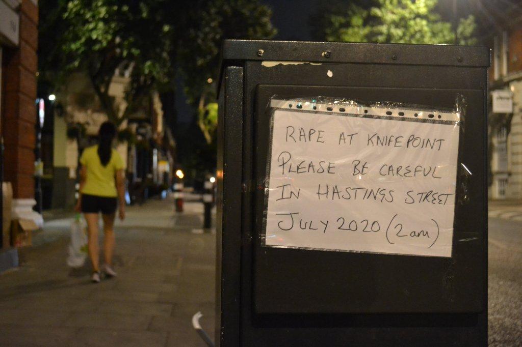 Rape at knifepoint on Hastings Street, July 2020